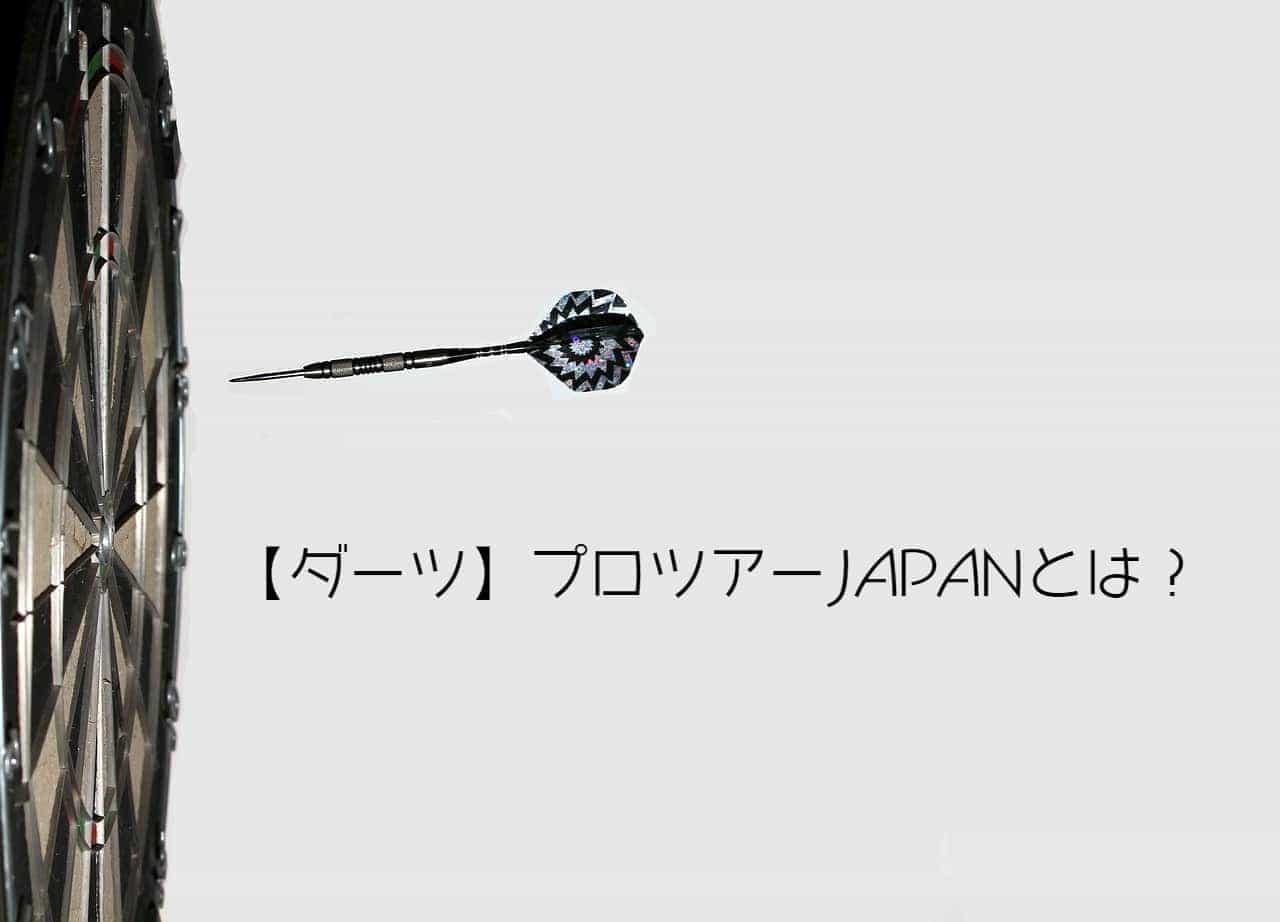 【ダーツ】プロツアーJAPANとは?